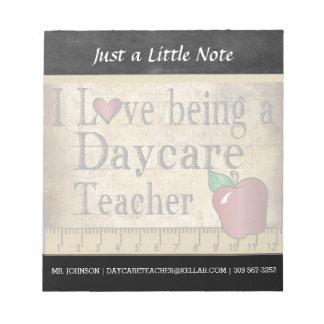 Daycare Teacher   Vintage Style Notepad