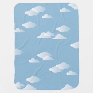 Daydream Clouds Sky Blue White Cloud Print Swaddle Blankets