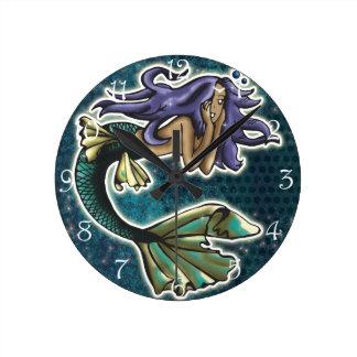 Daydream Mermaid Round Clock