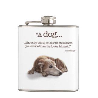 Daydreaming Dog Hip Flask