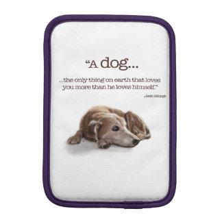 Daydreaming Dog Illustration iPad Mini Sleeve