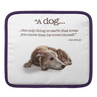 Daydreaming Dog Illustration iPad Sleeve