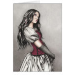 Daydreaming Doll Greeting Card