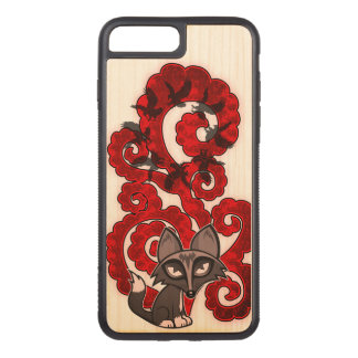 Daydreaming Fox Carved iPhone 8 Plus/7 Plus Case