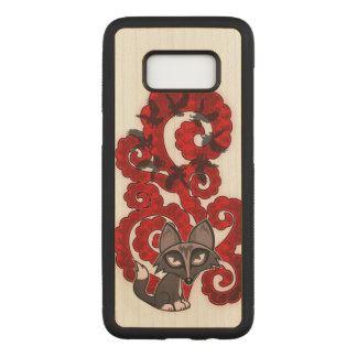 Daydreaming Fox Carved Samsung Galaxy S8 Case