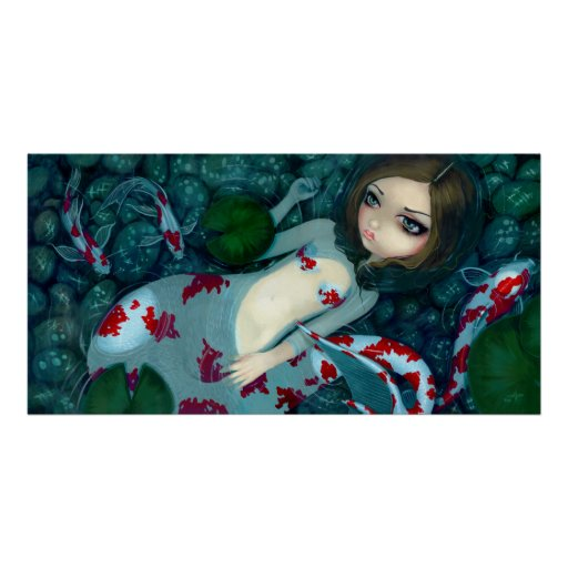Daydreaming Koi Mermaid fantasy Art Print