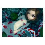 """Daydreaming Koi Mermaid"" Greeting Card"