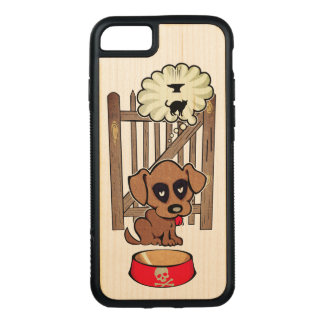 Daydreaming Puppy Carved iPhone 8/7 Case