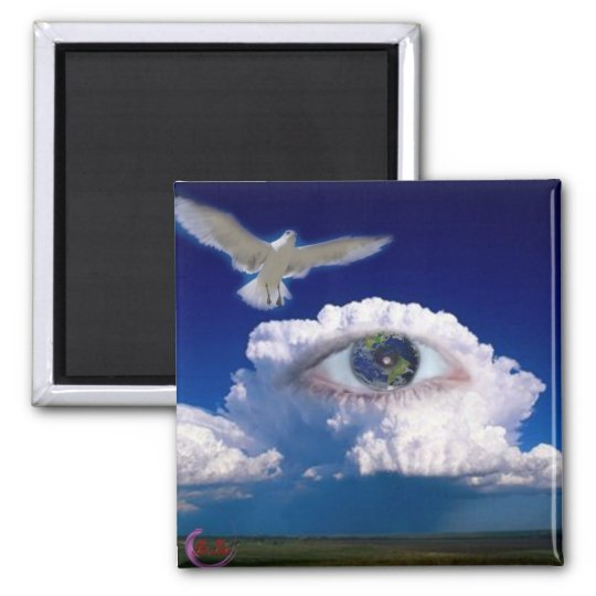 Daydreaming Square Magnet