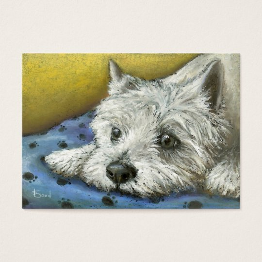 Daydreaming Westie ACEO prints Business Card