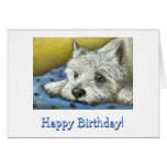 Daydreaming Westie Greeting Card