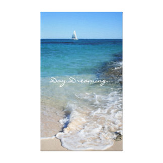 Daydreaming - White Sailing Boat - Canvas