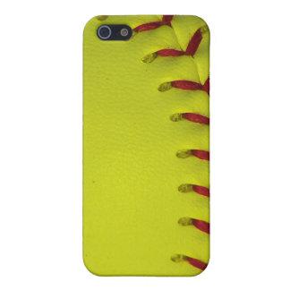 Dayglo Neon Yellow Softball iPhone 5 Cases
