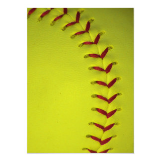Dayglo Yellow Softball Card