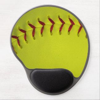 Dayglo Yellow Softball Gel Mouse Mat