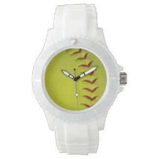 Dayglo Yellow Softball Watch