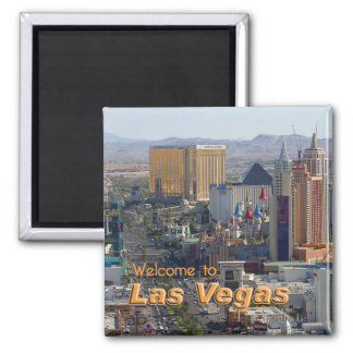 Daylight on the Las Vegas Strip Square Magnet