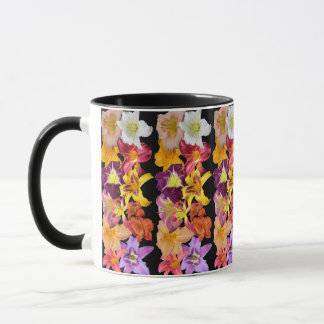 Daylilies Collage Design Mug