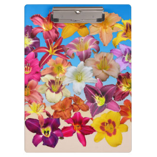 Daylily Collage on Sand and Sky Clipboard