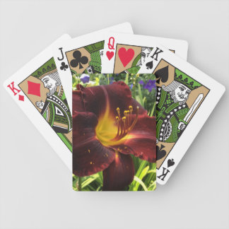 "DAYLILY ""Dominic"" Dark Wine. Bicycle Playing Cards"