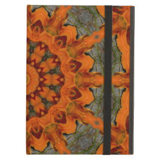 Daylily Orange Mandala iPad Air Cover