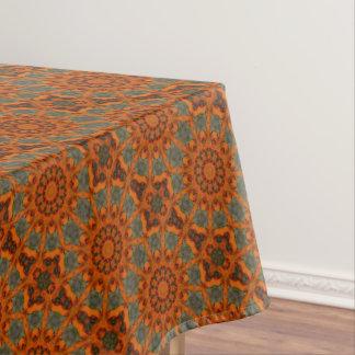 Daylily Orange Mandala Tablecloth