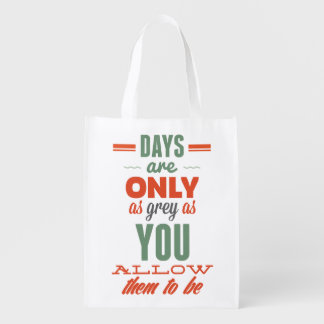 Days are!Vintage Typography Reusable Bag