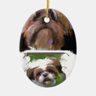 Days are wide open painting jpg christmas ornament