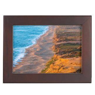 Days Last Light Strikes The Sandy Shore Of Point Keepsake Box
