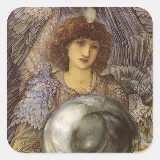 Days of Creation 1st Day, Burne Jones, Vintage Art Square Sticker