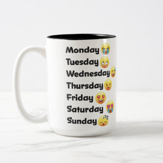 Days of the Week Emoji Mug