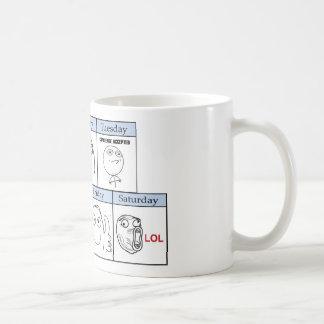 Days of the Week Memes Basic White Mug