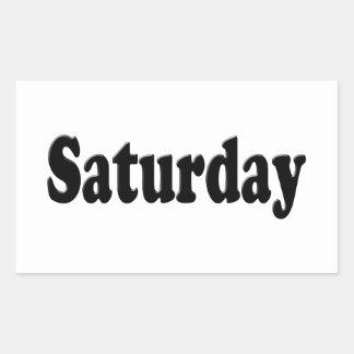 Days of the Week - Saturday Rectangular Sticker