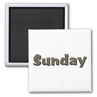 Days of the Week - Sunday Square Magnet