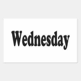 Days of the Week -  Wednesday Rectangular Sticker