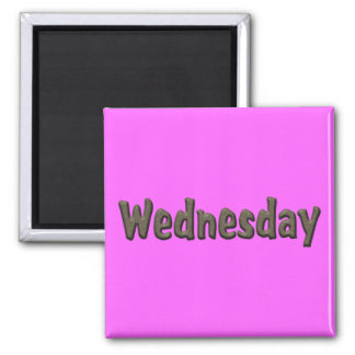 Days of the Week - Wednesday Square Magnet