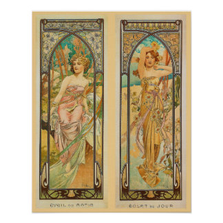 Daytime Alphonse Mucha Fine Art Poster