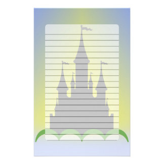 Daytime Dreamy Castle In The Hills Sunny Sky Stationery