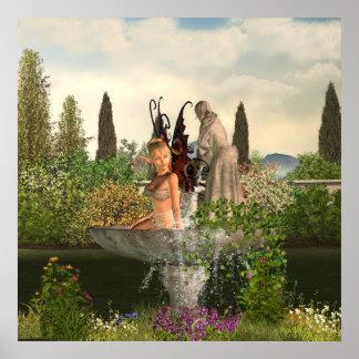 Daytime Garden Fairy Print