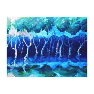 Daytime mangroves oil print canvas prints
