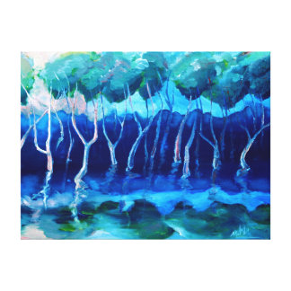 Daytime mangroves oil print stretched canvas prints