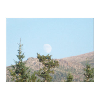 Daytime Moon Canvas Print