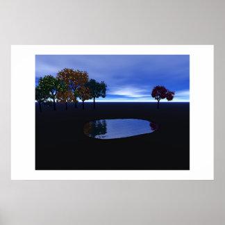 Daytime Pond Poster