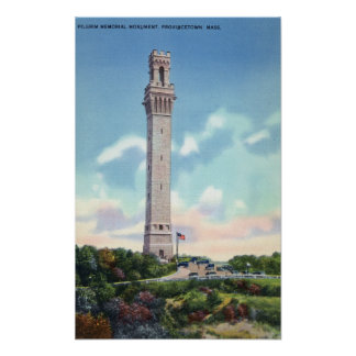 Daytime View of Pilgrim Memorial Poster