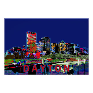 Dayton in graffiti poster