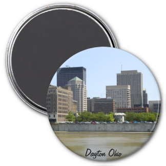 Dayton Ohio city skyline Magnet