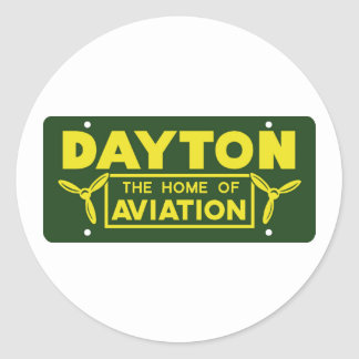 Dayton Ohio Classic Round Sticker