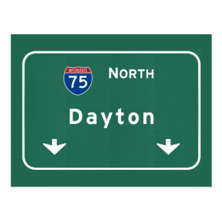 Dayton Ohio oh Interstate Highway Freeway : Postcard