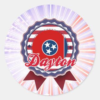 Dayton, TN Round Sticker