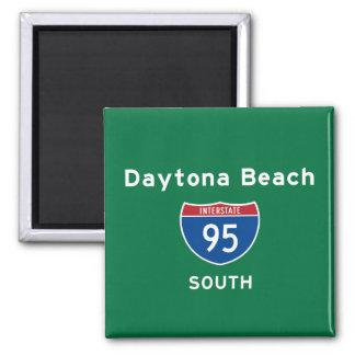 Daytona Beach 95 Square Magnet